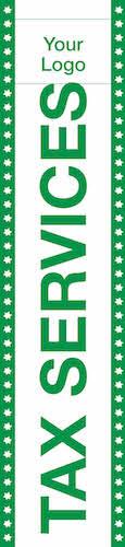 tax flag template 09 green