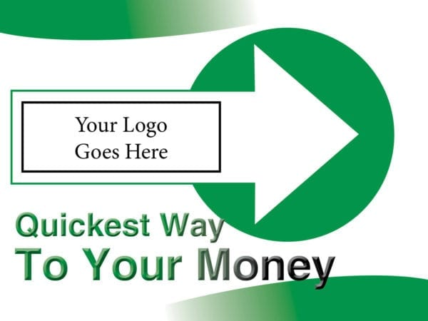 tax lawn sign template 01 green