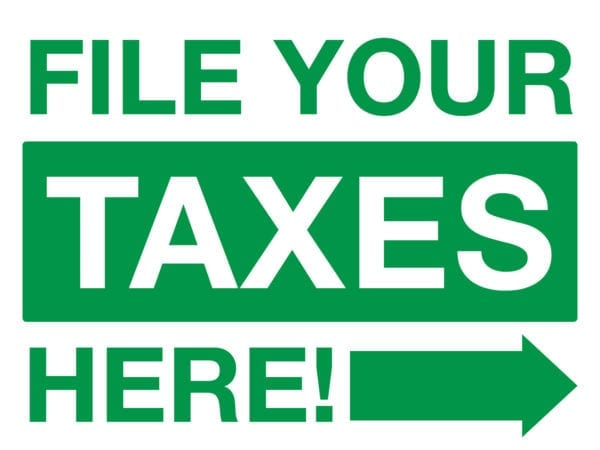 tax lawn sign template 08 green
