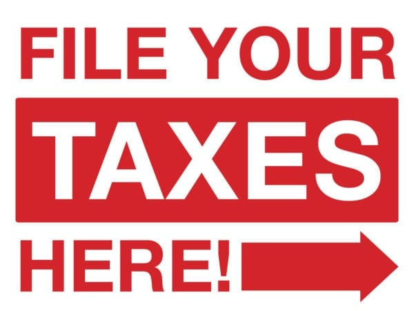 tax lawn sign template 08 red