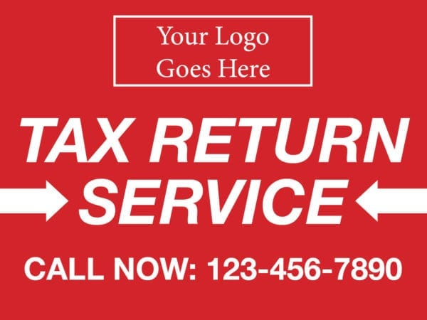 tax lawn sign template 10 red