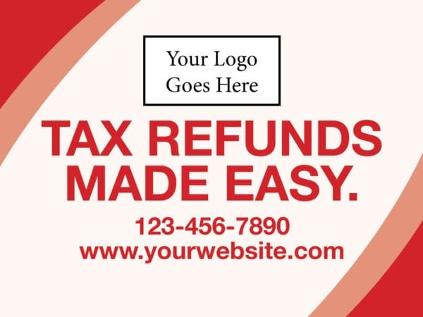 tax lawn sign template 15 red