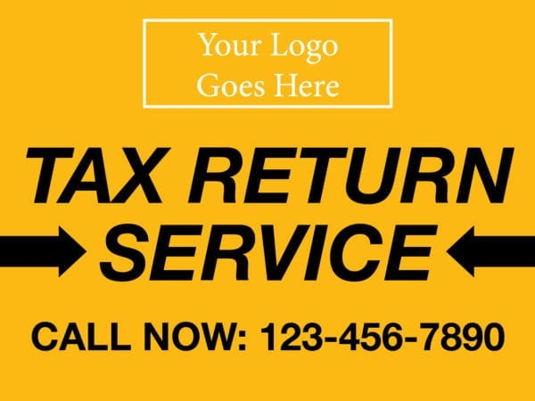 tax lawn sign template 10 yellow