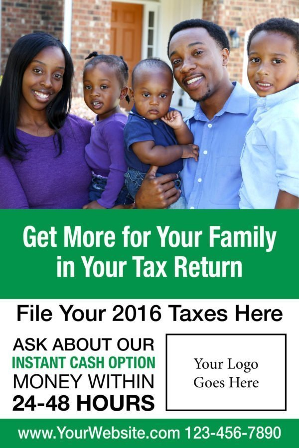 tax poster template 01 green
