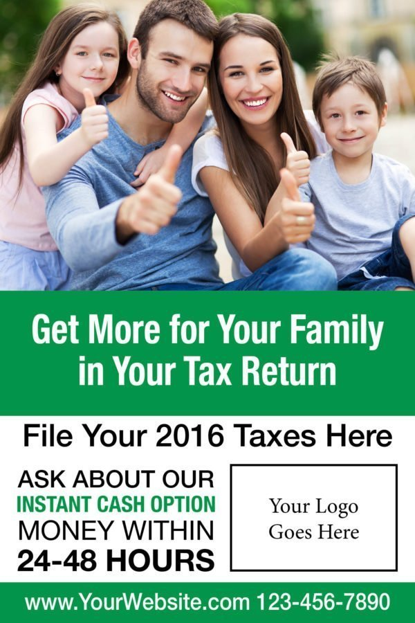 tax poster template 02 green