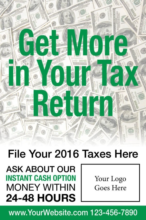 tax poster template 03 green