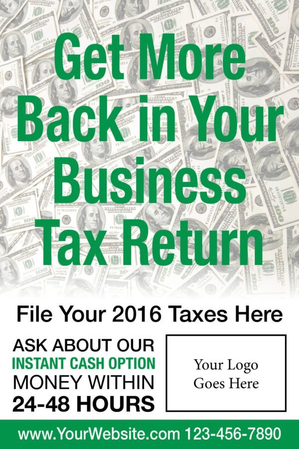 tax poster template 04 green
