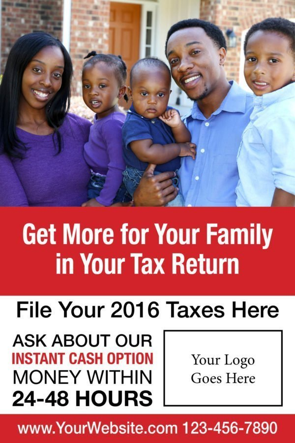 tax poster template 01 red