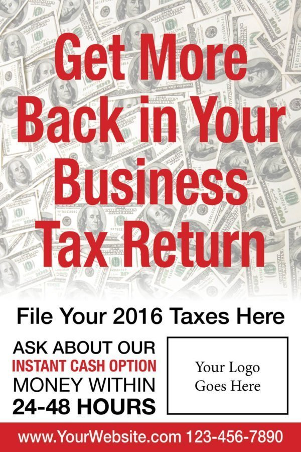 tax poster template 04 red