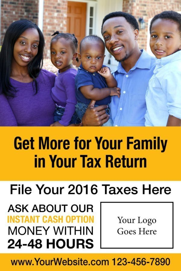 tax poster template 01 yellow
