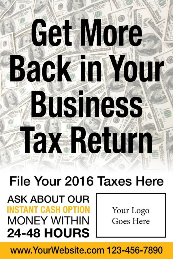 tax poster template 04 yellow