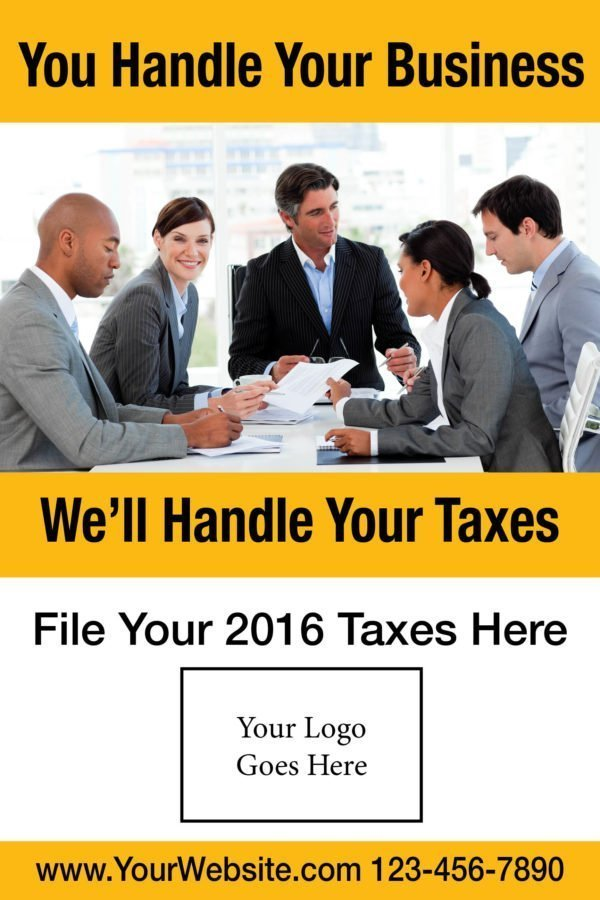 tax poster template 05 yellow