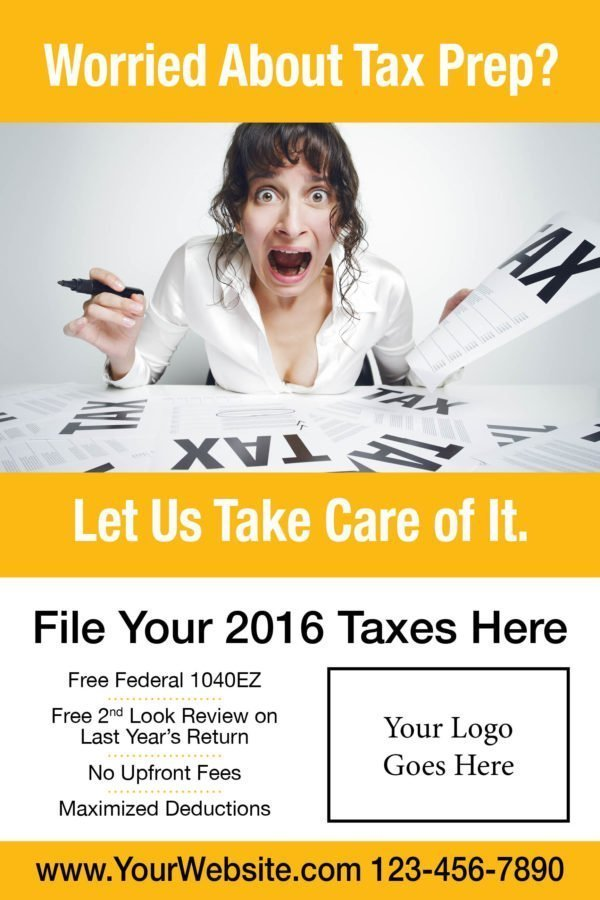 tax poster template 06 yellow