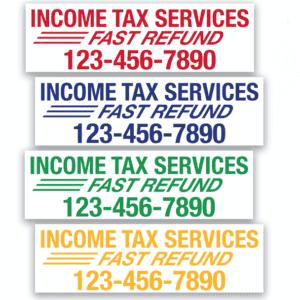 tax banner template 07