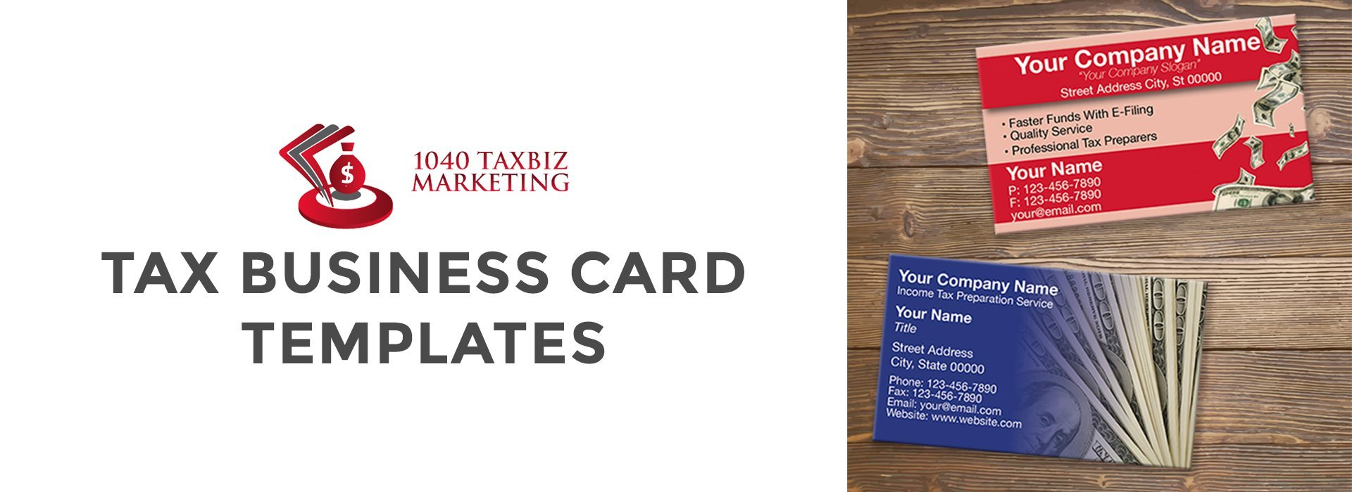 Business cards 1040 tax biz print please note all templates are updated every tax year and are customizable to your brand colourmoves